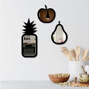 Frutas Decorativas Espelhadas