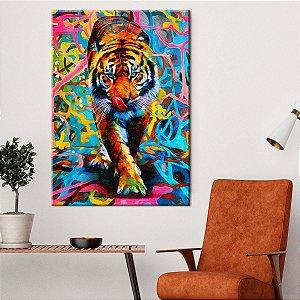Quadro Leão Colors