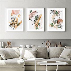 Kit Quadros Decorativos Flores De Ramos