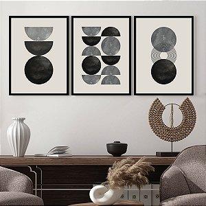Kit Quadros Decorativos Fases Da Lua