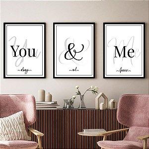 Kit Quadros Decorativos Amor You E Me