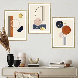 Kit Quadro Decorativo Círculo Abstrato