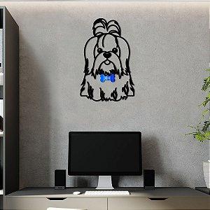Quadro 3D Cachorro Shih tzu