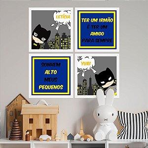 Kit de Placas Decorativas Super Melhores Amigos