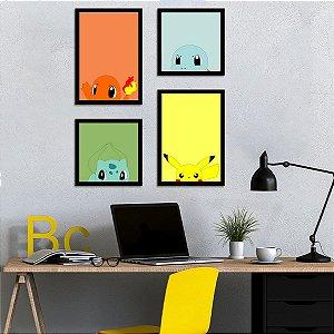 Kit de Placas Decorativas Pokémon