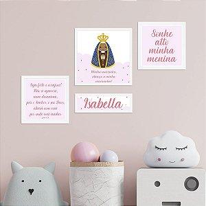 Kit de Placas Decorativas Nossa Senhora Aparecida