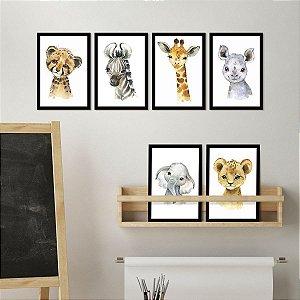 Kit de Placas Decorativas Zoo