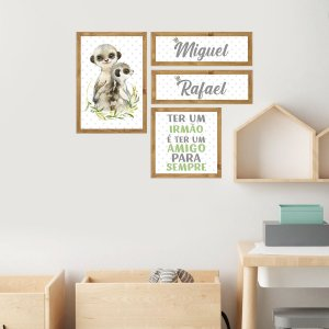 Kit Placas Decorativas Zoo Baby Personalizado