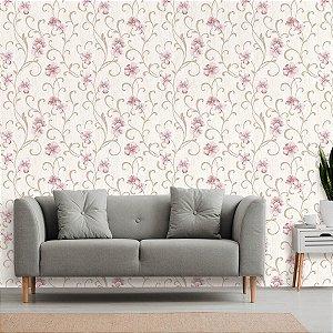 Papel de Parede Floral Orquídea Rosa