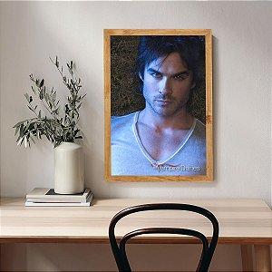 Placa Decorativa The Vampire Diaries Damon Salvatore