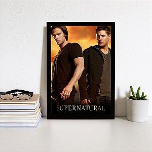 Placa Decorativa Supernatural San e Dean