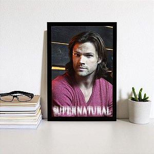 Placa Decorativa Supernatural Sam