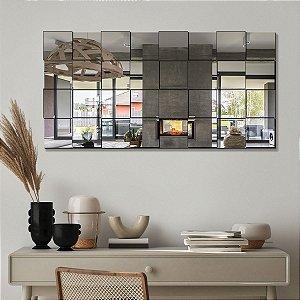 Espelho Decorativo Quadriculado 3D