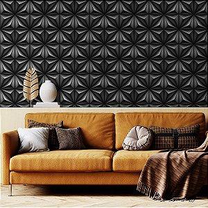 Papel de Parede 3D Geométrico Pérola Negra