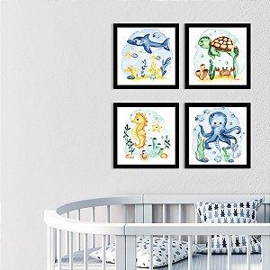 Kit de Placas Decorativas Fundo Do Mar Cute