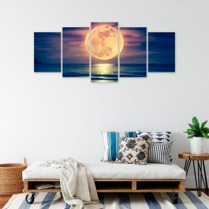 Quadro Mosaico Lua e Mar