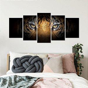 Quadro Mosaico Tigre