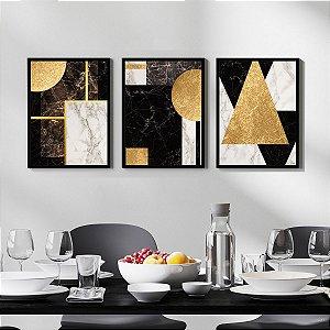 Quadros Decorativos Mármore Golden