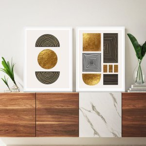 Quadros Decorativos Abstrato Golden