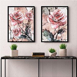 Quadros Decorativos Rosa Envelhecida