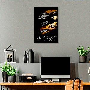 Quadro Ayrton Senna Espelhado