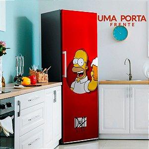 Adesivo para Geladeira Homer Duff Beer