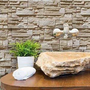 Papel de Parede Pedra em Tons diferentes de Bege