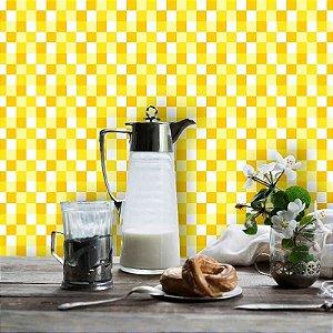 Papel de Parede Pastilhas em Tons de Amarelo