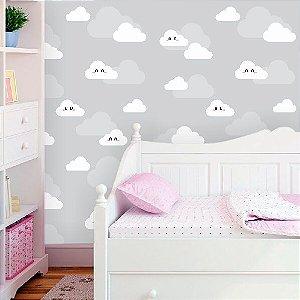 Papel de Parede Infantil Nuvens Encantadas