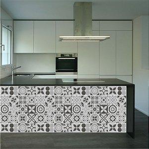 Adesivo de Azulejo Hidráulico estilo Concreto