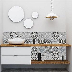 Papel de Parede Azulejo Hidráulico estilo Cimento