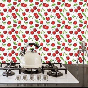 Papel de Parede Para Cozinha Cereja