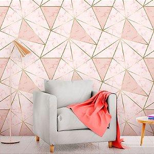 Papel de Parede Zara Pink Gold