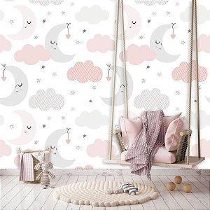 Papel de Parede Baby Nuvens com Lua