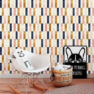 Papel de Parede Geométrico Teen Color