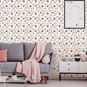 Papel de Parede Floral Cherry