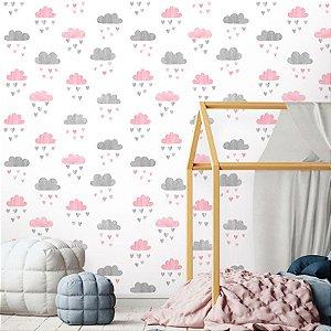 Papel de Parede Baby Nuvens Aquarela