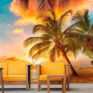 Papel de Parede Personalizado Paraíso Tropical