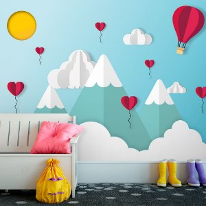 Papel de Parede Personalizado Montanhas Love