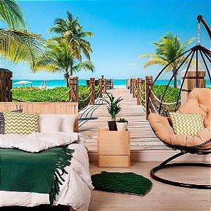 Papel de Parede Personalizado Praia do Caribe