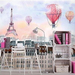 Papel de Parede Personalizado Balão Paris