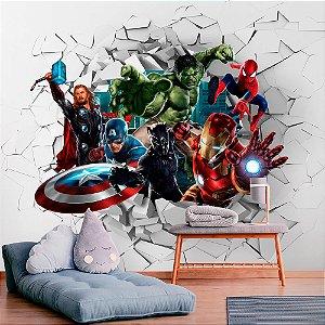 Papel de Parede Personalizado Heróis da Marvel