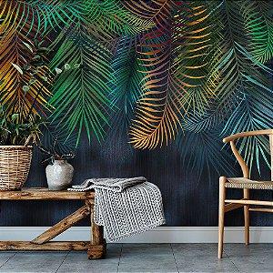 Papel de Parede Personalizado Palmeira Colorful