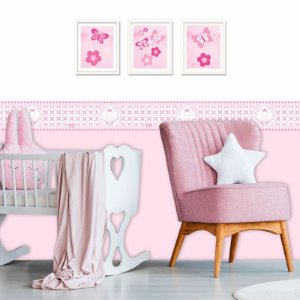Faixa Decorativa Infantil Realeza Rosa