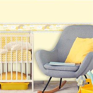 Faixa Decorativa Infantil Chuva de Bênçãos Amarelo