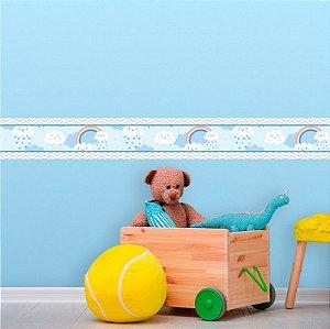 Faixa Decorativa Infantil Chuva de Bênçãos Azul