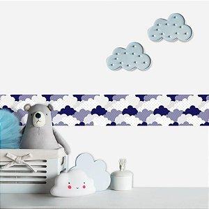 Faixa Decorativa Infantil Nuvens Blue