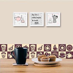 Faixa Decorativa para Cozinha Coffee