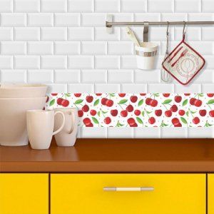 Faixa Decorativa para Cozinha Cerejas