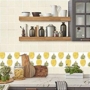 Faixa Decorativa para Cozinha Abacaxi